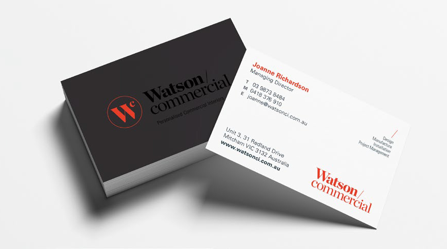 Watson Commercial Business Cards
