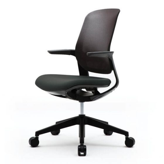 Fursys T25 Flight | ergonomic chair black mesh black base