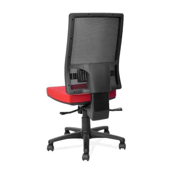 Leo Mesh | high back ergonomic task chair rear view