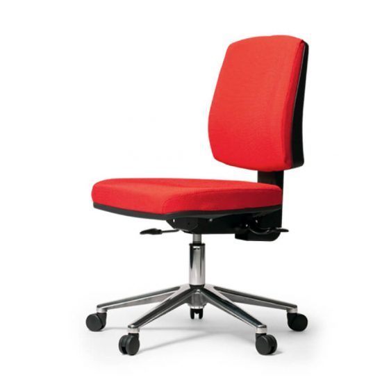 Leo | high back ergonomic task chair chrome base