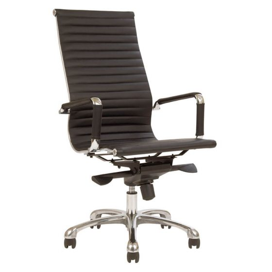 T Luxa | High Back ergonomic executive chair with arms aluminium base