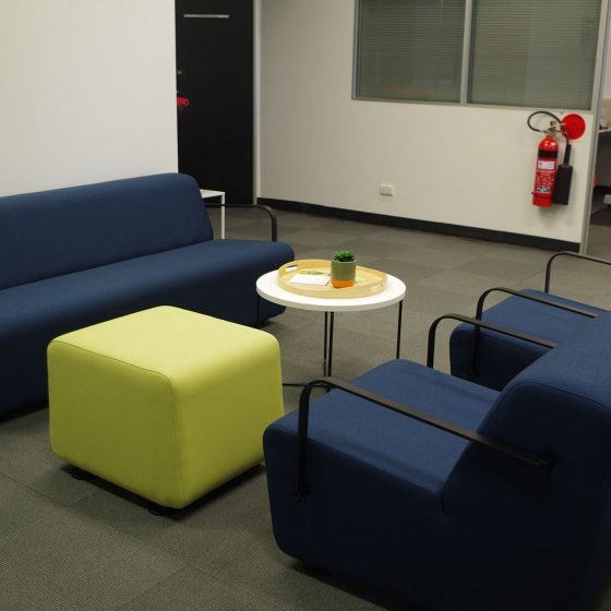Aura seats with arms, Aura stool and Aura 3 seater with arms