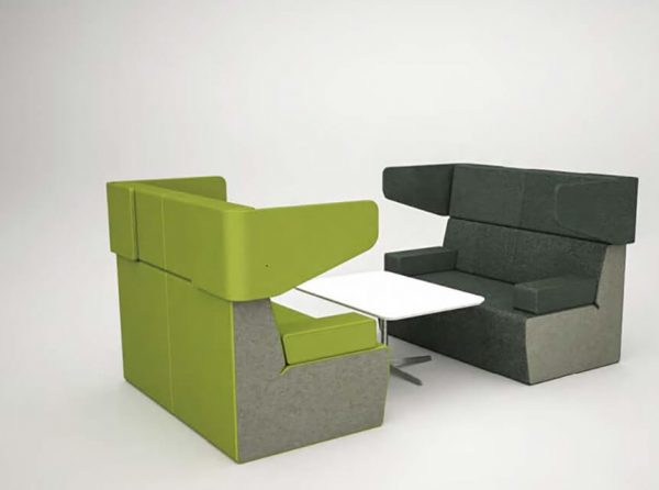 BLINC collaborative lounge modular lounge straight high back commercial furniture