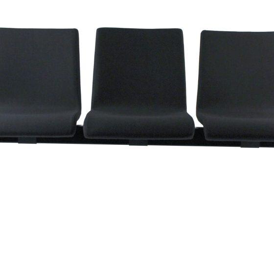 Chameleon Beam seating square polished aluminium frame aluminium arms