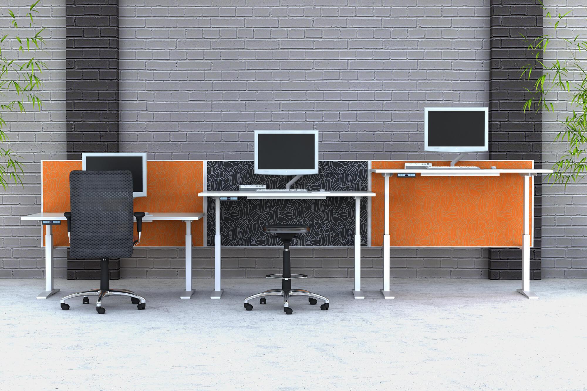 Essential height adjustable desks 1200 screens