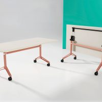 Incognito Folding Tables 1800x800mm Rectangle Pink Salt