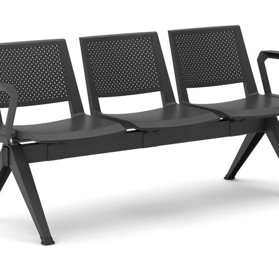 Kentra beam seating commercial furniture black arms