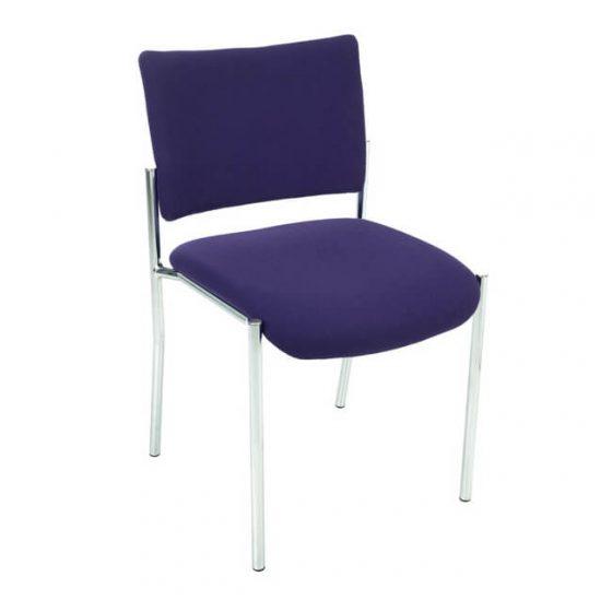 Meteor | meeting visitor chair 4 leg Powdercoated frame