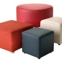 Ottomans custom Cubes drums education commercial furniture