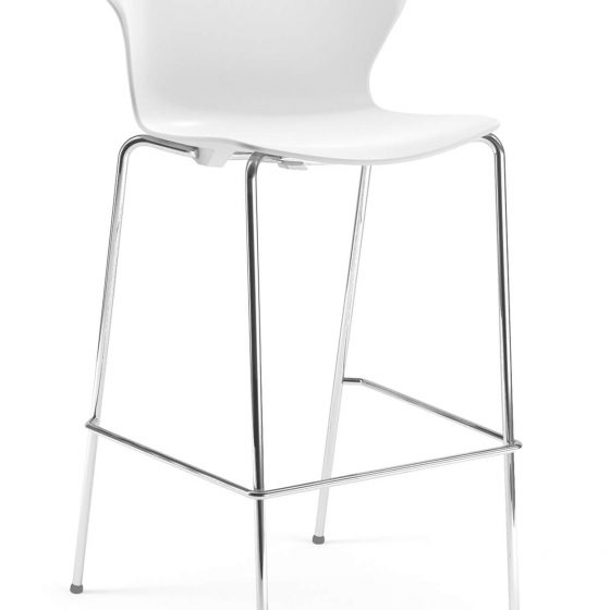 Red hot stool Brado commercial furniture hospitality white