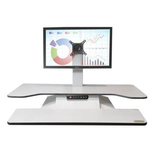 Workstations, STANDESK PRO 7 height adjustable desktop single monitor white