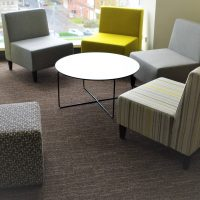 Uni Tub custom ottomans commercial furniture education soft seating