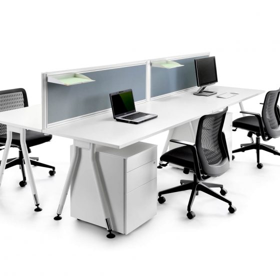 Workstations, Vee back to back workstations with screens