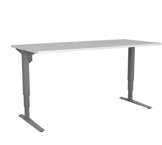 501 43 silver white - Why Purchase a Height-adjustable Desk Frame