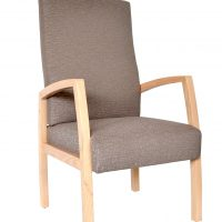 Bella high back chair timber frame with arms aged care healthcare
