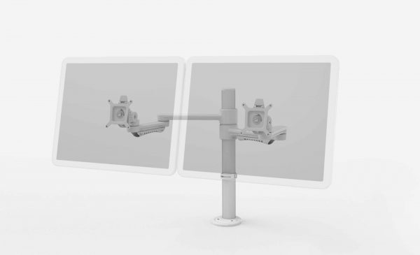 C ME Double Monitor Arm workstations