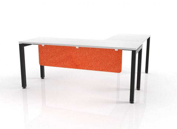 Hush Acoustic Modesty Panel Orange Workstations