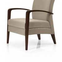 Juliana lounge chair with – Arms timber frame Aged  furniture