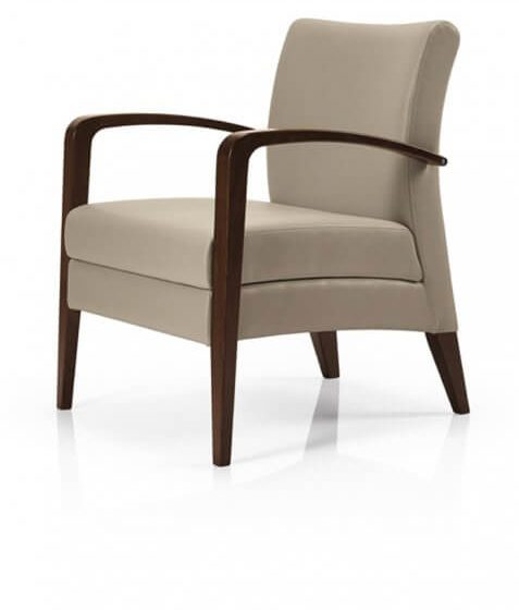 Juliana lounge chair with - Arms timber frame Aged furniture