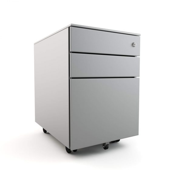 Commercial Furniture Products, Mobile pedestal 3 drawer workstation accessories storage