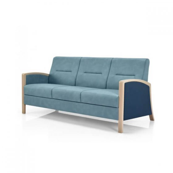 Regina 3 seater lounge closed arms Aged Care furniture