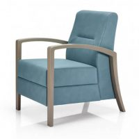 Regina Single seater lounge chair with open arms timber frame