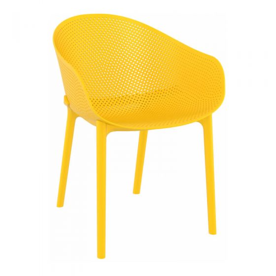 Commercial Furniture Products, Sky Chair front side low hospitality outdoor furniture