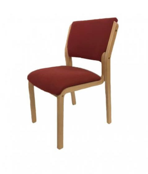 Zeta Side chair visitor chair no arms beech timber frame aged care