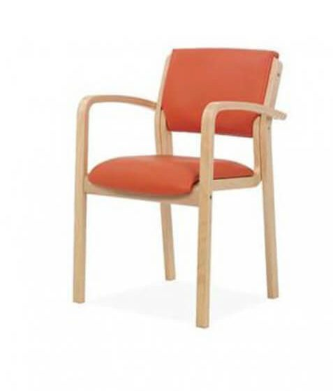 Commercial Furniture Products, Zeta armchair beech timber frame with arms visitor chair aged care furniture