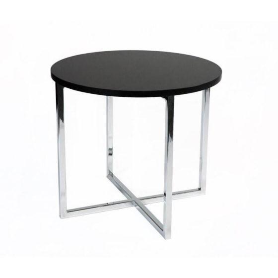 Anna coffee table round chrome base