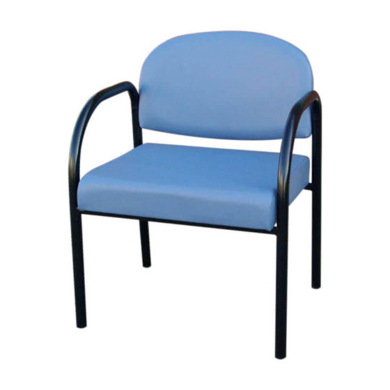 Barton bariatric chair healthcare aged care black frame 600mm wide
