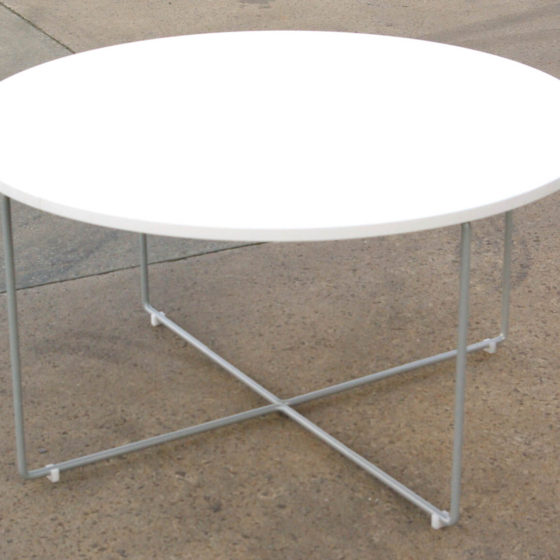 Cross Coffee Table Commercial Furniture powder coated base