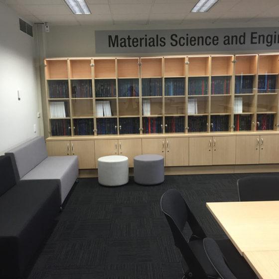 Custom Storage thesis wall unit display