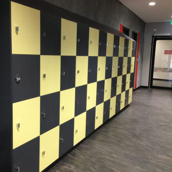 Custom lockers made to measure joinery