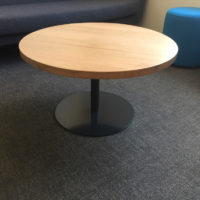 DISC table BASE black timber top