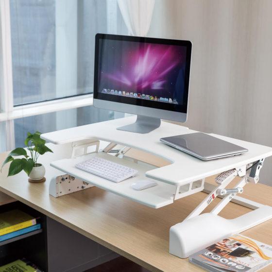 Ergovida gas desk mount height adjustable white