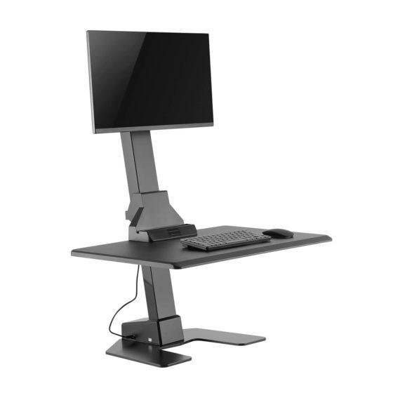 Ergovida height adjustable electric desk mount EDT10 black