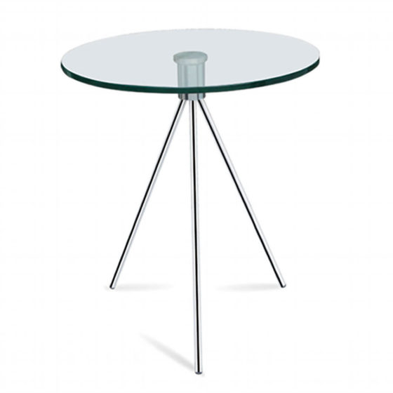 Kiepie coffee table glass top chrome base commercial furniture
