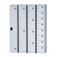 Commercial Furniture Products, Lockers Flat top steel multiple doors