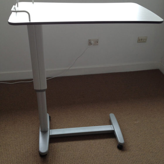 Overbed table castors km healthcare