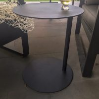 RUBY laptop table black round