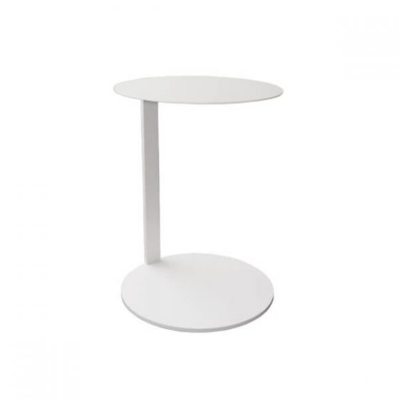 Commercial Furniture Products, Tables, RUBY laptop table white round top round base