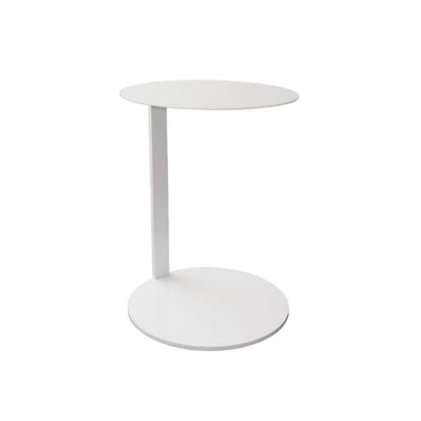 RUBY laptop table white round top round base