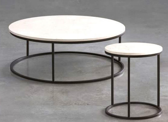 Ring marble coffee table side table commercial furniture