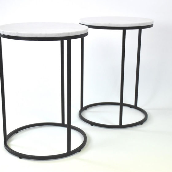Ring side tables marble top hospitality commercial furniture