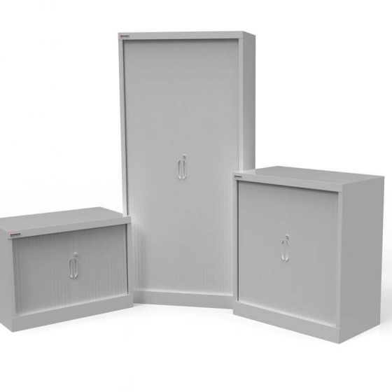 Commercial Furniture Products, Tambour storage units various sizes office storage