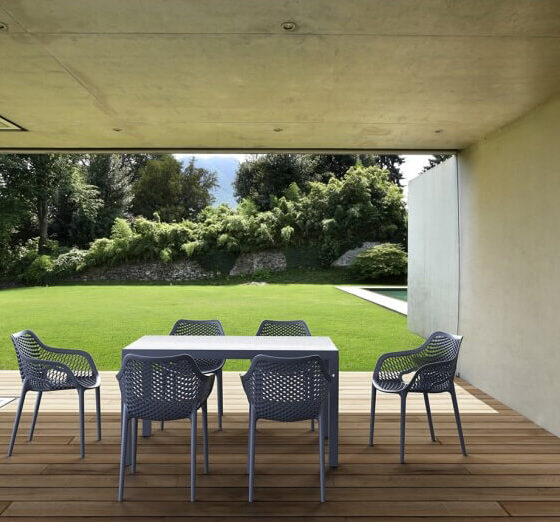 AirXL chairs outdoor furniture setting hospitality