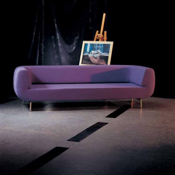Durgu lounge, purple upholstery,