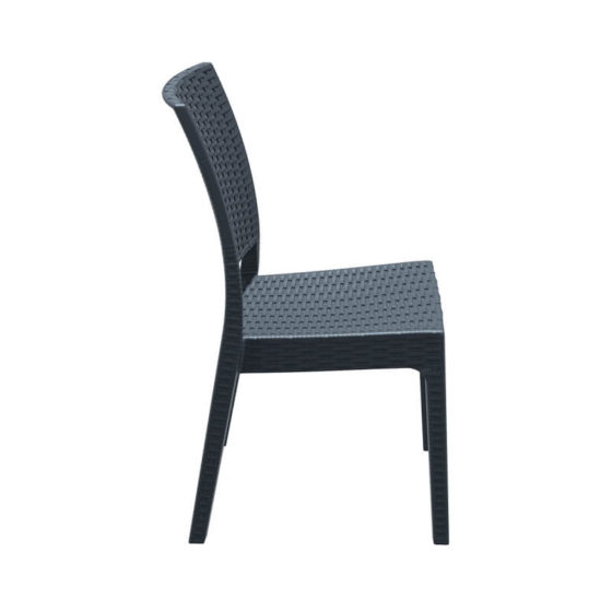 Florida Outdoor Chair Dark Grey side view hospitality furniture