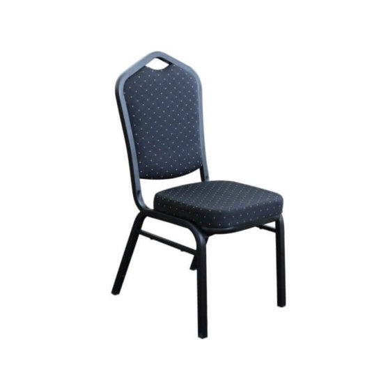 Function Chair Black Fabric Black Frame hospitality chair